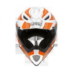 AGV OFF-ROAD AX-8 EVO white orange